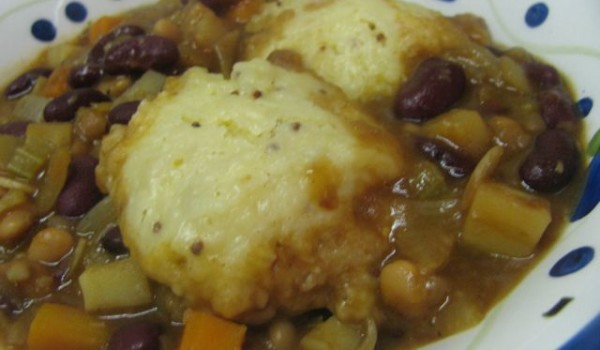 veggie casserole with dope dumplings