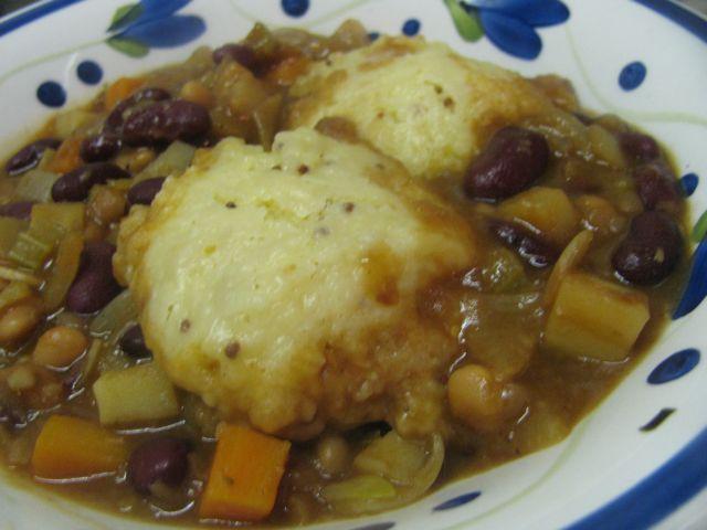 veggie casserole with dope dumplings